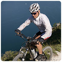 Mountainbiker, Gardasee